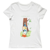 Basic T-Shirt Reading Girl T-shirt Ladies